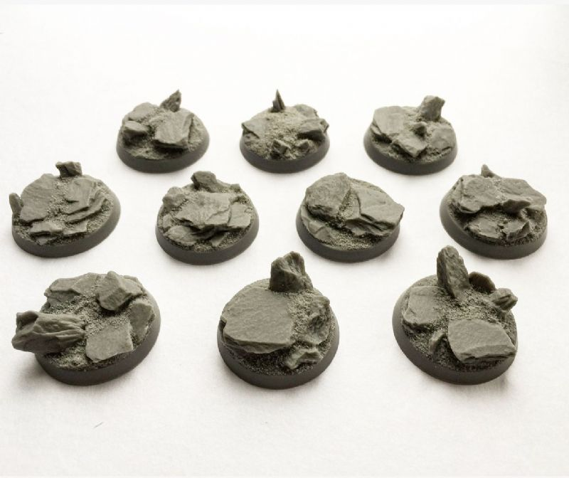 (Out of Stock) 32mm Rocky Landscape bases (10) set 1